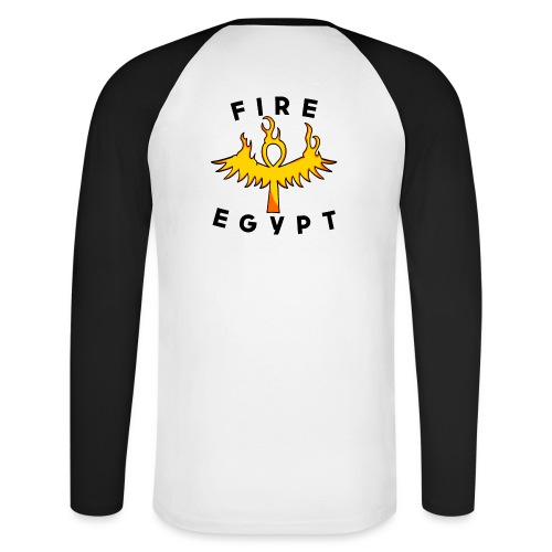 FIRE EGYPTIAN LIFE CROSS - T-shirt baseball manches longues Homme
