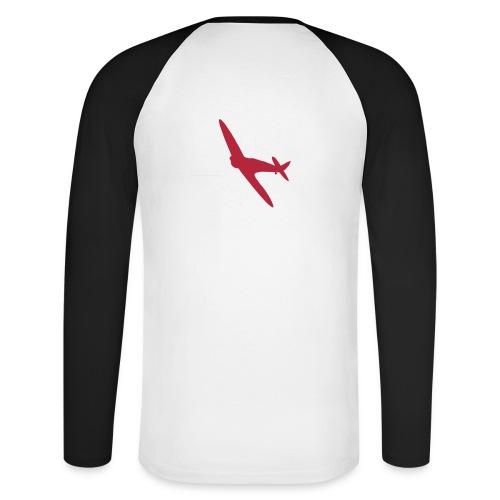 ukflagsmlWhite - Men's Long Sleeve Baseball T-Shirt