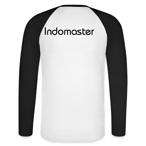 indomaster letters black - Men's Long Sleeve Baseball T-Shirt