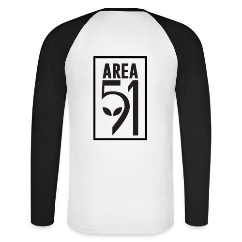 Area 51 raid + - T-shirt baseball manches longues Homme
