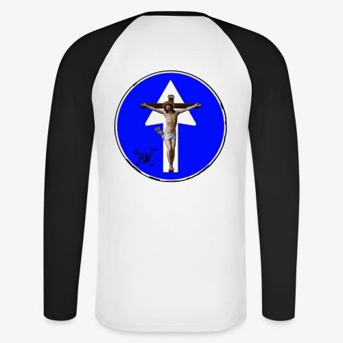 Gesù - Maglia da baseball a manica lunga da uomo