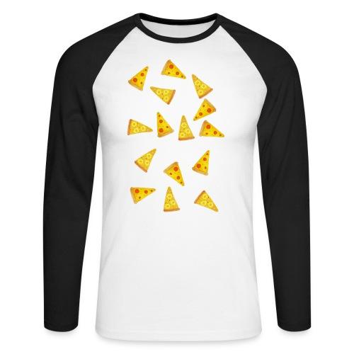 Pizza is Bae - Männer Baseballshirt langarm