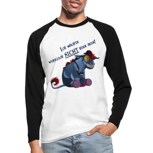 Emo Esel - Männer Baseballshirt langarm