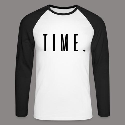 time - Männer Baseballshirt langarm