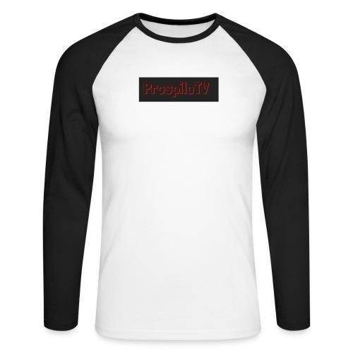 Prospilotv logo png - Men's Long Sleeve Baseball T-Shirt