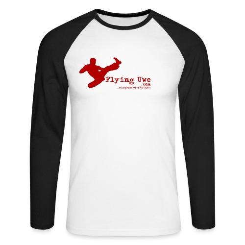 flyinguwe logo vektor kopie - Männer Baseballshirt langarm