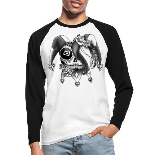 La Catrina Bajorette - Black & White - Männer Baseballshirt langarm