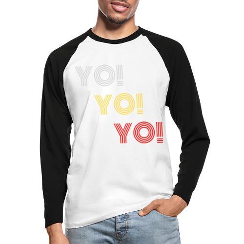YO! - Männer Baseballshirt langarm