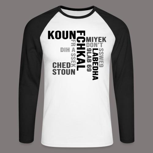 KOUN FCHKAL Nuance de gris - T-shirt baseball manches longues Homme