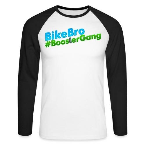 Bikebro #BoosterGang - Langærmet herre-baseballshirt
