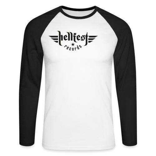hellfest records logo png - Männer Baseballshirt langarm