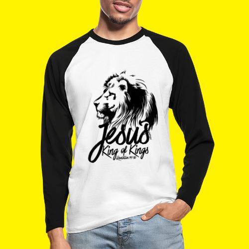 JESUS - KING OF KINGS - Revelations 19:16 - LION - Men's Long Sleeve Baseball T-Shirt