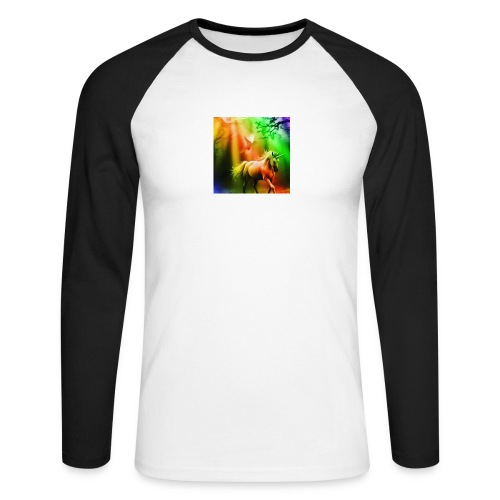 SASSY UNICORN - Men's Long Sleeve Baseball T-Shirt