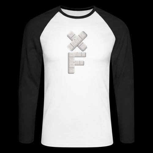 XF Xanax Logo - Männer Baseballshirt langarm
