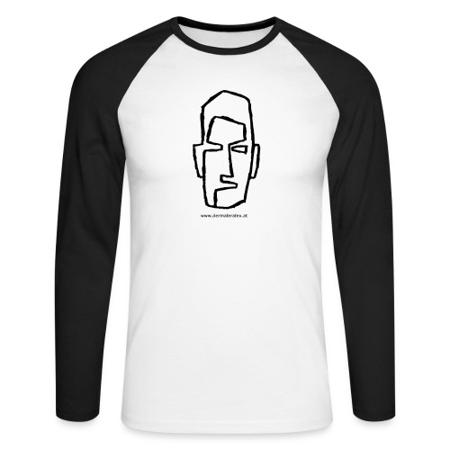 kopf - Männer Baseballshirt langarm