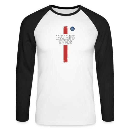 parisfinal11.png - T-shirt baseball manches longues Homme