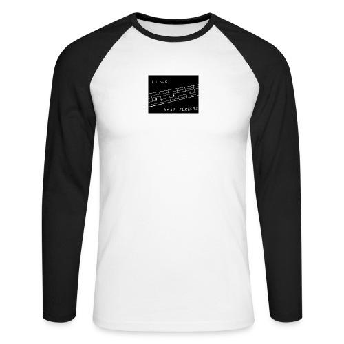 I Love Bass Players - Men's Long Sleeve Baseball T-Shirt