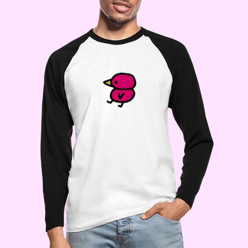 Pinkguin - Langærmet herre-baseballshirt