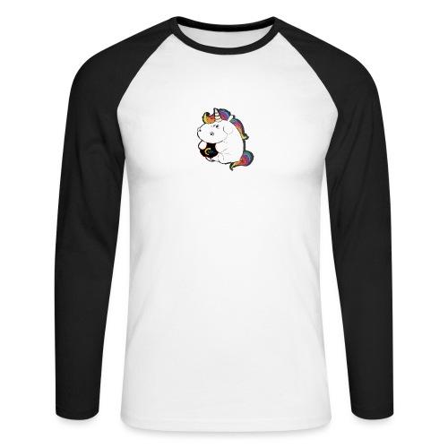 MIK Einhorn - Männer Baseballshirt langarm