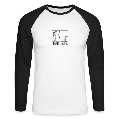 W.O.T War tactic, tank shot - Men's Long Sleeve Baseball T-Shirt