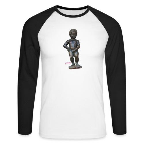BiG REAL mannekenpis ♀♂ | 小便小僧 - T-shirt baseball manches longues Homme