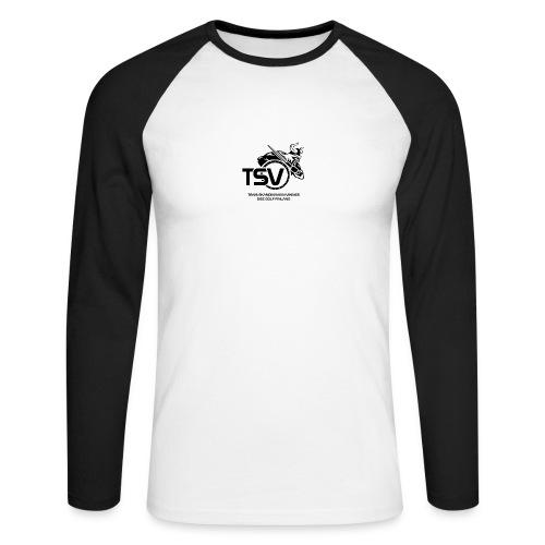 TSV logo koko musta - Miesten pitkähihainen baseballpaita