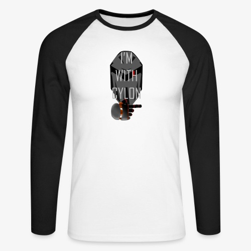 I'm with Cylon - Langermet baseball-skjorte for menn