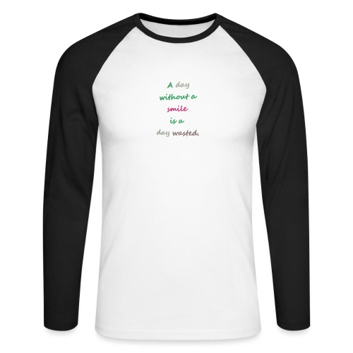 Say in English with effect - Men's Long Sleeve Baseball T-Shirt