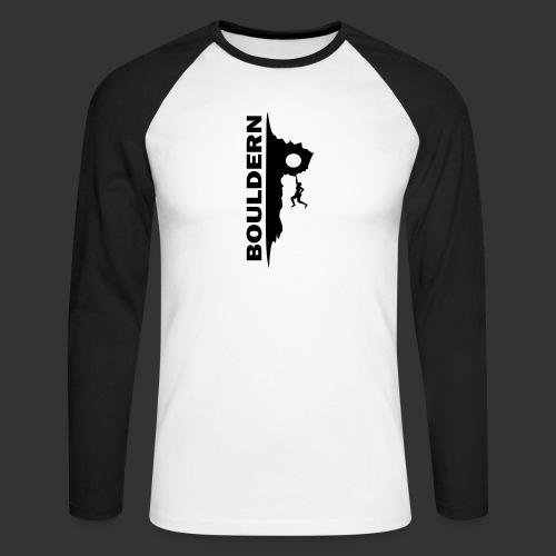 Bouldern - Männer Baseballshirt langarm