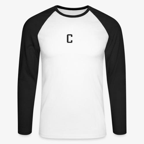 thiccc logo Black and White - Men's Long Sleeve Baseball T-Shirt