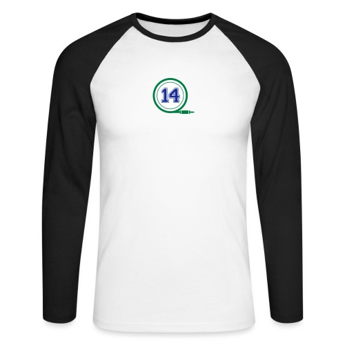 D14 Alt Logo - Men's Long Sleeve Baseball T-Shirt