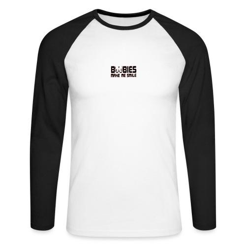 boobiesmakemesmile - Mannen baseballshirt lange mouw