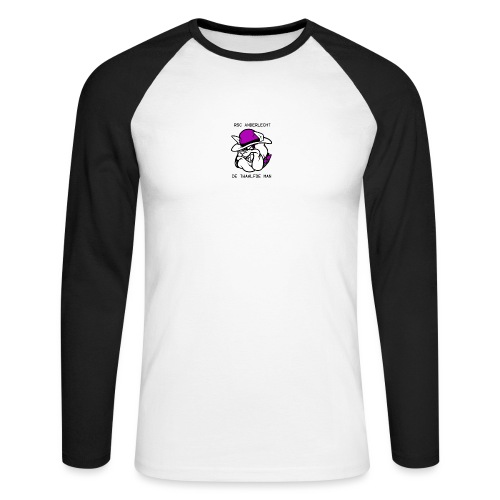 T-shirt D12M - Mannen baseballshirt lange mouw