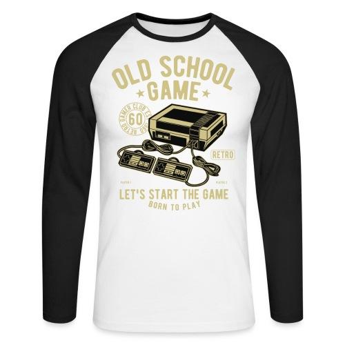 T-Shirt Jeux videos Vintage - T-shirt baseball manches longues Homme