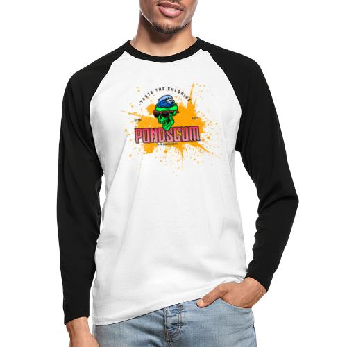 PondScum Dream Wave - Men's Long Sleeve Baseball T-Shirt