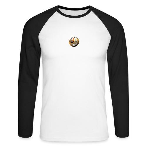 Rigormortiz Metallic Orange Design - Men's Long Sleeve Baseball T-Shirt