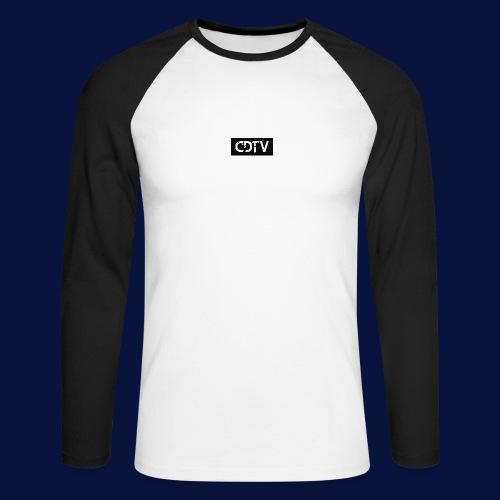 CDTV Box Logo - Men's Long Sleeve Baseball T-Shirt