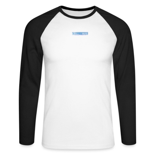 Larger MI logo png - Men's Long Sleeve Baseball T-Shirt