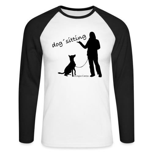 Dog sitting - Männer Baseballshirt langarm