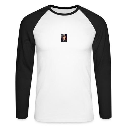 300 - Langermet baseball-skjorte for menn