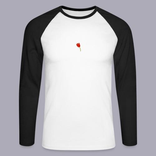 Tulip Logo Design - Men's Long Sleeve Baseball T-Shirt