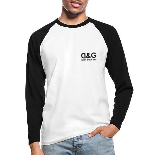 DG-logo - Mannen baseballshirt lange mouw