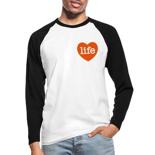 LOVE LIFE heart - Men's Long Sleeve Baseball T-Shirt
