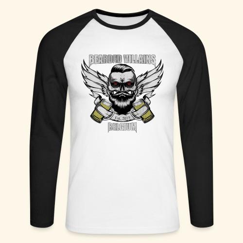Bearded Villains Belgium - Men's Long Sleeve Baseball T-Shirt