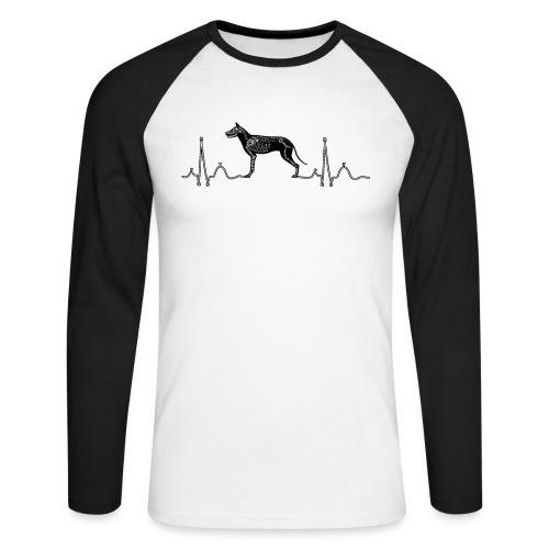 ECG met hond - Mannen baseballshirt lange mouw