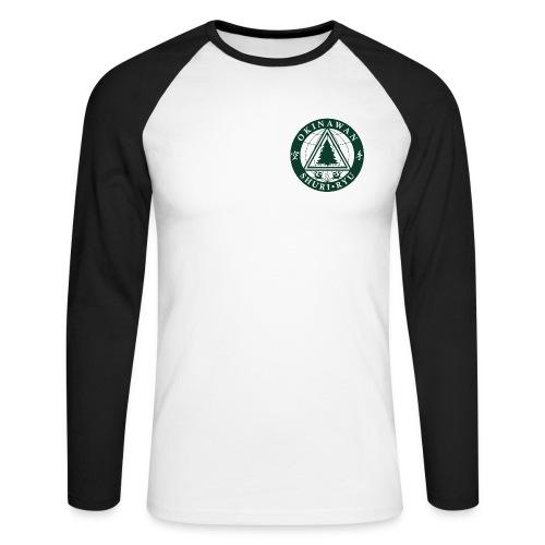 Klubmærke Traditionel placering - Langærmet herre-baseballshirt