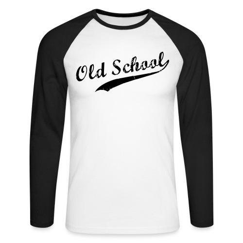 old school - Langærmet herre-baseballshirt