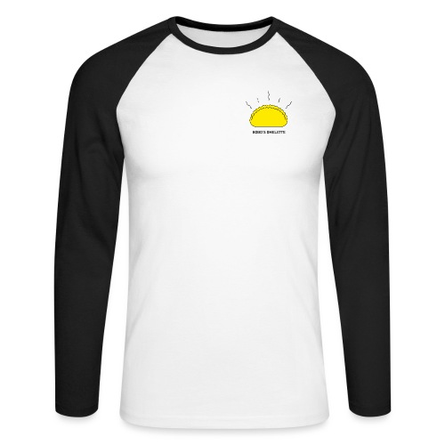 Color Logo uden baggrun - Langærmet herre-baseballshirt