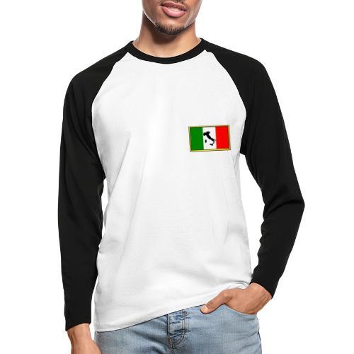 Bandiera Italiana2 - Maglia da baseball a manica lunga da uomo