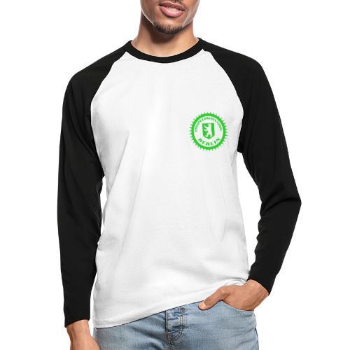 Logo klein ESU transp Green - Männer Baseballshirt langarm